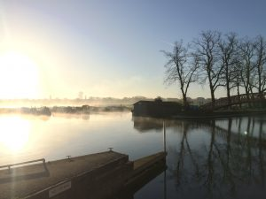 A misty morning on our beautiful stretch at Godstow