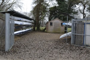 Our boathouse yard at Godstow
